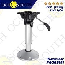 Oceansouth Waverider Pedestal Aluminium Anodised Shaft Shock Absorption System Swivel Top Adjustable For Standard Boat Seats
