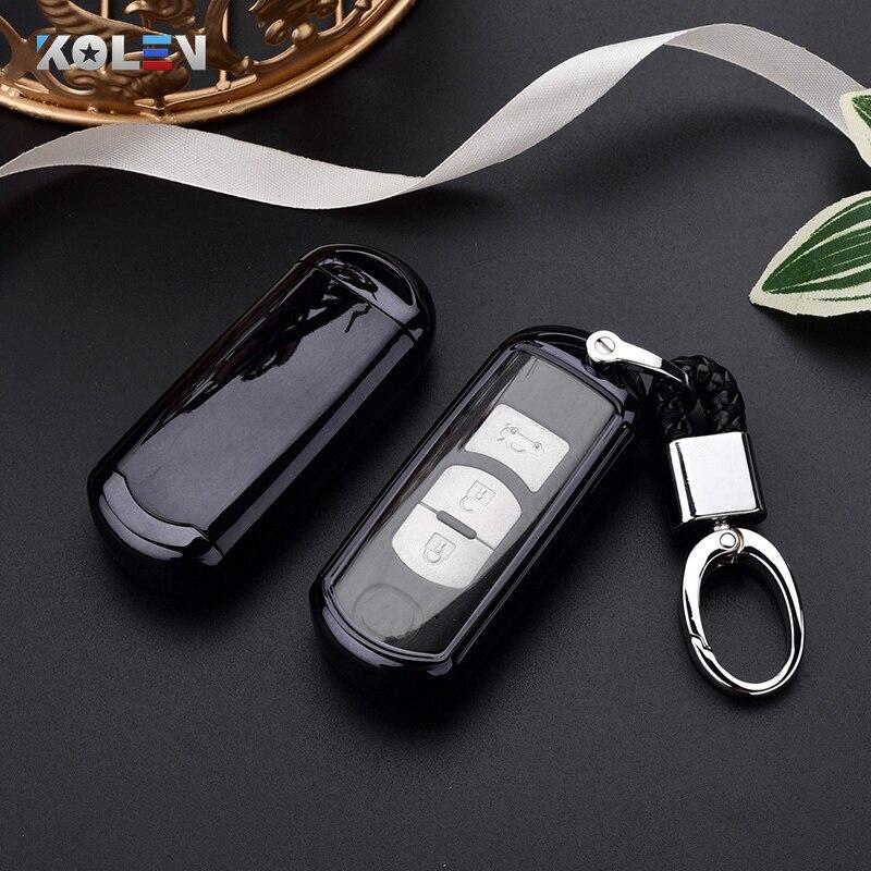 Car Key Cover Case TPU PC Remote Key Holder Shell For Mazda 2 3 5 6 Atenza Axela CX-3 CX-4 CX-5 CX-7 CX-9 MX-5 2 3 4 Accessories