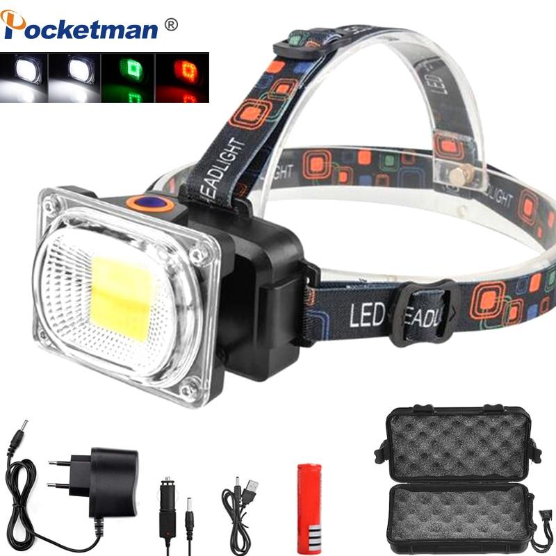 6000LM COB LED Headlamp Ultra Bright USB Charging Outdoor Camping Fishing Headlight Portable Searchlight Lantern Flashlight