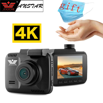 Anstar 4K Dash Cam 2880x2160P Car DVR Novatek 96660 WiFi GPS Loop Recording Night Vision Parking Monitor Registrar Auto Camera image