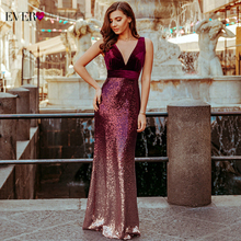 Evening-Dresses Ever Pretty Robe-De-Soiree Mermaid Burgundy Elegant Sexy Long Sleeveless