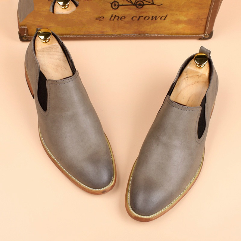 QWEDF 2019 fashion Men Loafers Genuine Leather Casual Shoes Men Flats Oxford Shoes For Men light Hot sale Driving Shoes MJ 87