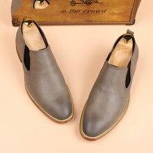 QWEDF 2019 موضة حذاء رجالي جلد طبيعي حذاء كاجوال الرجال الشقق أكسفورد أحذية للرجال خفيفة رائجة البيع أحذية قيادة MJ 87أوكسفورد