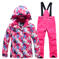 Skiing Suits jacket and pant Kids Boys and Girls Warm Windproof Waterproof Snow Sets Outdoor Winter Clothes Children's Ski Wear