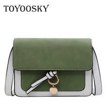TOYOOSKY Mini Nubuck Leather Crossbody Bags For Women 2019 Shoulder Messenger Bag Panelled Lady Travel Purses and Handbags