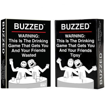 Buzzed Drunk Card English Version Board Game Toy Adult Drinking Game Casual Chess