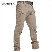 Cidade militar tático calças homens combate especial calças multi-bolso à prova dmulti água wear-resistant casual treinamento macacão 2021