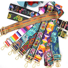Bag Strap Shoulder-Bag-Accessories Messenger Crossbody Embroidered Woman Nylon/cotton