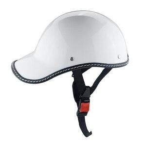 Image 3 - 1PC Motorcycle Half Face Vintage Summer Helmet Hat Cap Men Women Motorcross Moto Racing White/Black