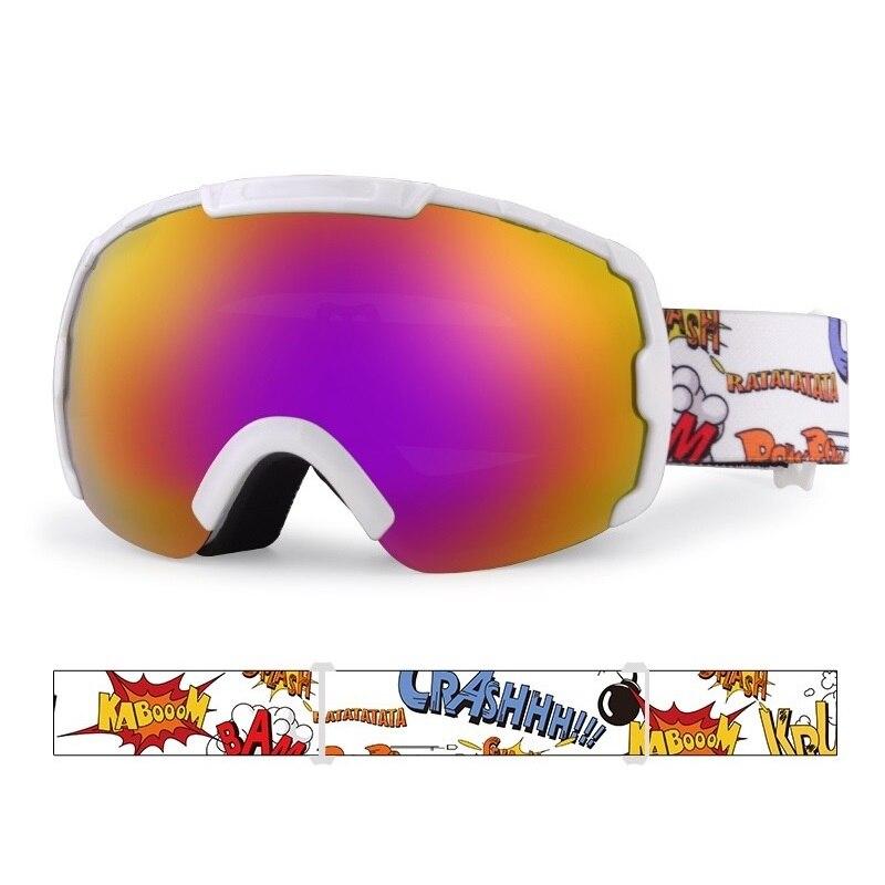 Ski Goggles Kids Glasses Snowboard Goggles For Child Skiing Anti Fog