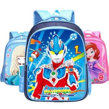 Pupils 1-3 grade boys and girls fashion bag shoulders cartoon bag waterproof burden reduction bag rye time schoolbags boys and girls 2 4 6 years of load reduction girls 6 12 years burden reduction junior high children backpack