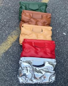Image 3 - High Quality Down Space Pillow Pu Leather Crossbody Messenger Bag Shoulder Bag Purses and Handbag for Women Clutch Bag Envelope