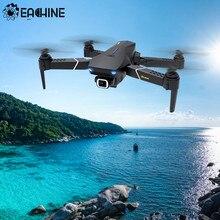 Eachine-Drone quadricóptero E520S RC, câmera HD 4K, GPS siga-me, helicóptero quadrotor, brinquedo dobrável profissional RTF com 5G, wifi FPV e lente grande angular