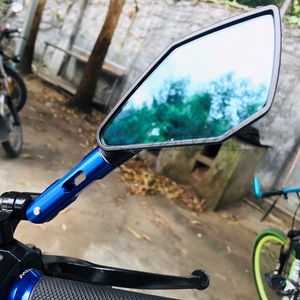 Image 5 - Espejos retrovisores de aluminio CNC para motocicleta, accesorio para Kawasaki Z900 Z900RS Z800 Z1000, de cristal azul, verde, negro, dorado, rojo y naranja