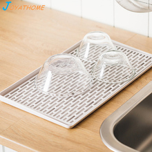 Joyathome Double Layer Drain Tray Kitchen Tea Home Fruit Plate Plastic Rectangular Rack Sink Dish