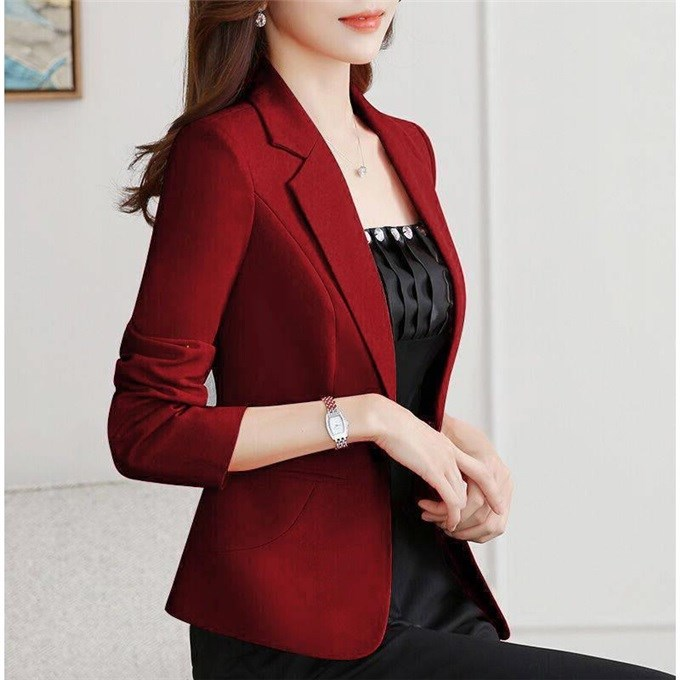 2020 Free Shipping New Spring Autumn Blazer Straight And Smooth Jacket Office Lady Style Coat Business Formal Wear Candy Color