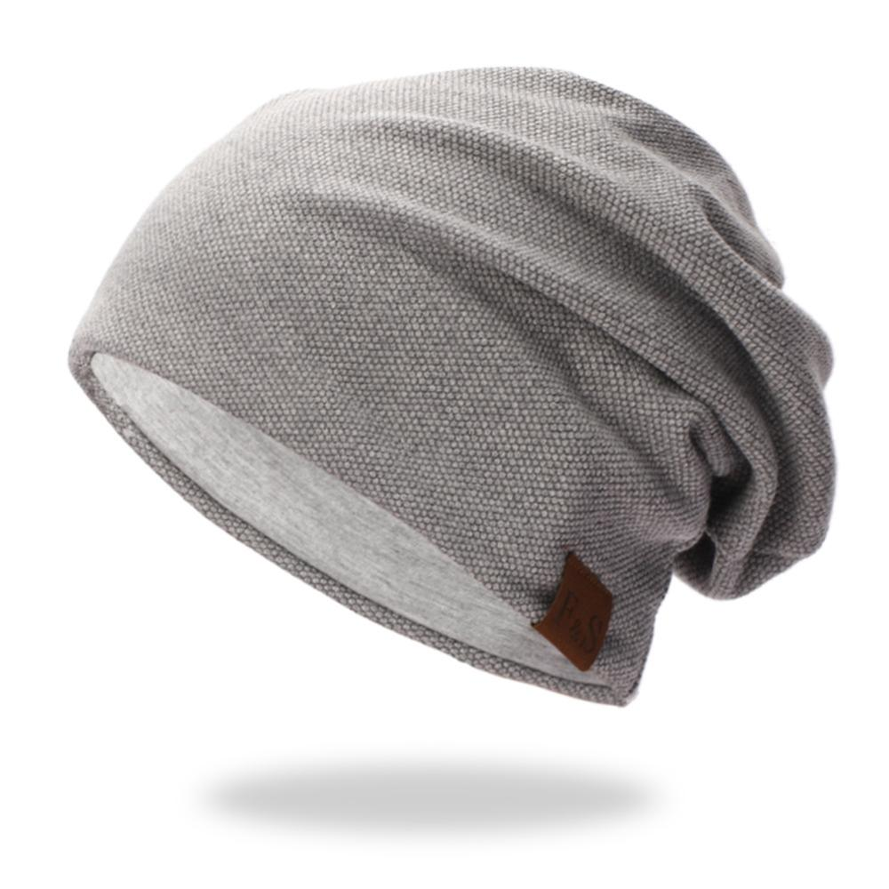 Free Shipping Beanies Cap Casual Lightweight Thermal Elastic Knitted Cotton Spring Autumn Sports Headwear Dropshipping