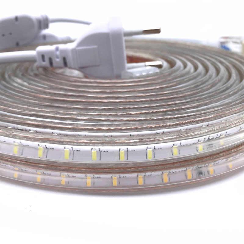 220V Dây ĐÈN LED Ánh Sáng SMD 3014 Ruy Băng LED Băng Keo Chống Thấm Nước Đèn LED Dẻo Băng 120 Đèn LED/M độ sáng ngoài trời Dây Đèn
