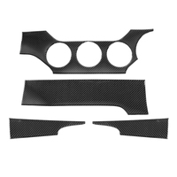 4Pcs Real Carbon Fiber Car Dashboard Decoration Stickers For Ford Mustang 2015+ Interior Auto Car Accessory Styling