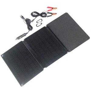 60 Вт ЭТФЭ Панели солнечные Зарядное устройство Dual USB5V & DC12V Выход для мобильных телефонов 12V Батарея светильник Системы Зарядное устройство