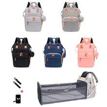 Bag Folding Travel-Backpack Baby Maternity Diaper-Bag Nappy Nursing-Bags Mom Mommy Large-Capacity