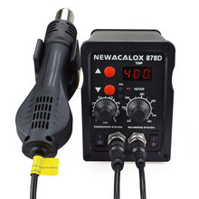 NEWACALOX Double Digital Display Electric Soldering Irons +DIY Hot Air Gun Better IC SMD Rework Station Welding Repair Tool(China)
