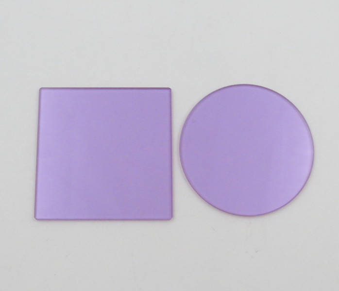 PNB586 Type Dysprosium Neodymium Glass (selective Absorption Type Optical Glass Sheet)