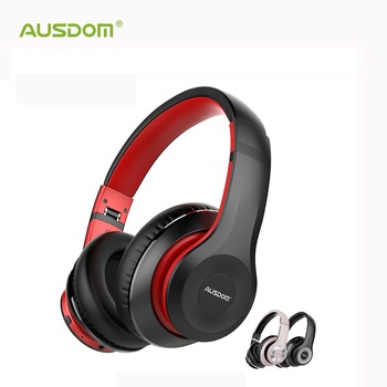 AUSDOM ANC10 Bluetooth Wireless Headphones Active Noise Cancelling Foldable 30H Play time Hifi Deep Bass Bluetooth Headset
