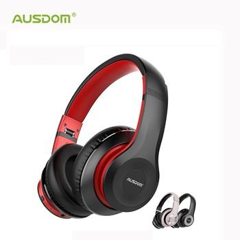 AUSDOM ANC10 słuchawki bezprzewodowe z Bluetooth aktywna redukcja szumów składany 30H czas odtwarzania Hifi głęboki bas zestaw słuchawkowy Bluetooth tanie i dobre opinie Dynamiczny CN (pochodzenie) Bezprzewodowy + Przewodowe 110±3dBdB 30mW 1 2mm Dla Telefonu komórkowego Do Gier Wideo Słuchawki HiFi