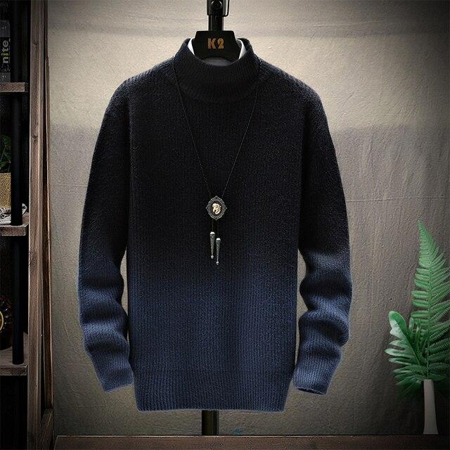 De calidad superior suéter de Navidad para hombres ropa de invierno 2020 grueso cálido suéteres Casual clásico cuello jersey de Cachemira de los hombres 3
