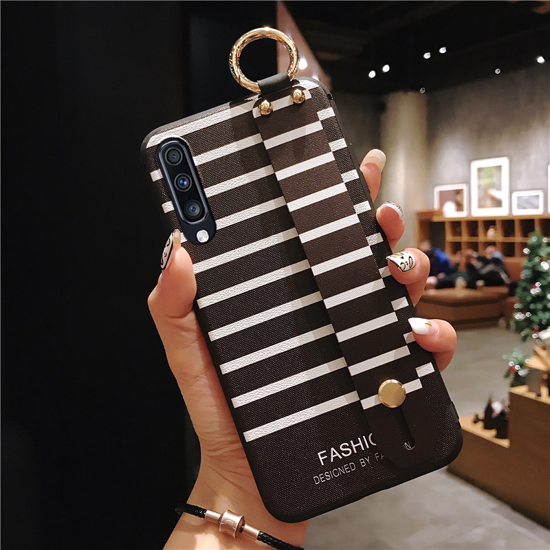Wrist Strap Phone Case For Samsung Galaxy S9 S8 S10 S20 Plus A70 A30 A50 A51 A10 A20 A7 2018 Note 8 9 10Plus TPU Case
