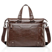 Mens Leather Briefcase PU Material 15inch Mens Shoulder Bag For Men Crossbody Bags 2019 Fashion Bussiness Briefcase handbag