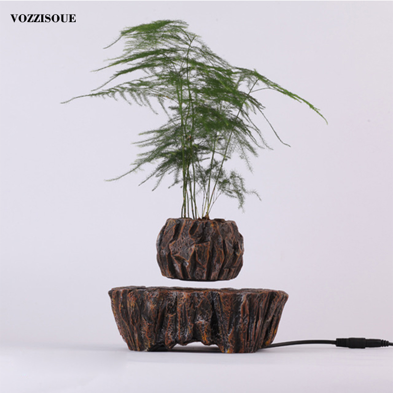 2019 Hot Sale <font><b>Magnetic</b></font> Levitation Air Bonsai <font><b>Pot</b></font> Art Potted Sky Succulent Plantpot Geomancy Ornaments Decor <font><b>Flower</b></font> Floating <font><b>Pot</b></font> image