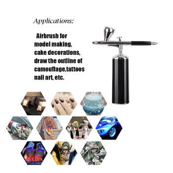 Rechargeable compressor kit High pressure electric mini handhold cosmetics airbrush scale models makeup nail art compressor set