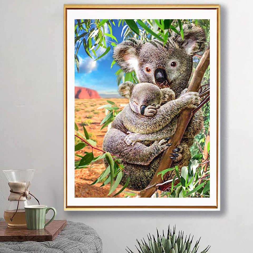5D Diamond Painting Full Drill Embroidery Cross Stitch Kits Koalas Home Decors