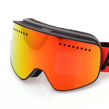 Gafas de esquí magnéticas Anti-niebla doble lente Uv400 gafas de esquí profesional gafas hombres mujeres gafas de esquí y snowboard Google 2019
