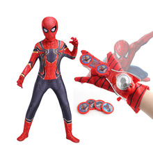 Spiderman Costume Cosplay Clothing Fancy Dress Spandex Black Adult Children 3D Red High-Quality