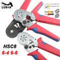 HSC8 6-4 6-6 0.25-6mm 23-10AWG Hexagon  0.25-10mm 23-7AWG Quadrilateral Tube Bootlace Terminal Crimping Pliers Crimp Hand Tools
