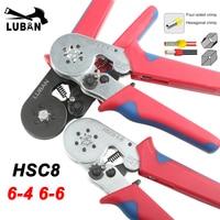 Hsc8 6 4 6 6 0.25 6mm 23 10awg hexágono 0.25 10mm 23 7awg tubo quadrilateral bootlace terminal friso alicate friso ferramentas manuais|Alicates|Ferramenta -