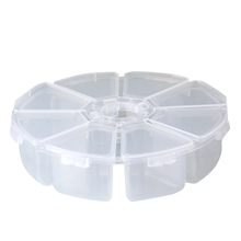 Storage-Box Hair-Ring Small-Parts Jewelry Practical Desktop Plastic with 8-Slots Adjustable