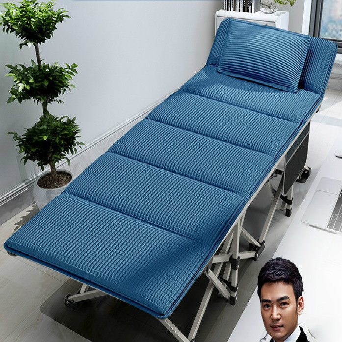 RESTAR Ruishda Folding Bed Single Office Nap Afternoon Recliner Home Simple Portable Military Bed