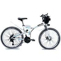 New product lithium battery 26 inch 350W 48V 10AH electric bicycle 21 speed mountain bike cheap price folding e bike for sale