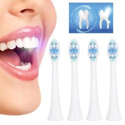 4pcs Electric Toothbrush Head Cleaning Sonic Replacement Toothbrush Head Supply Teeth brush Parts Oral Clean Brush for Philips