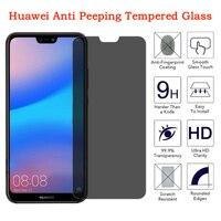 Privado Protector de pantalla para Huawei Nova 3 3i 3e 4 4E 6 7 SE AntispyTempered de vidrio para Huawei 5 5i 5Z 6 7 8 8pr de privacidad de vidrio