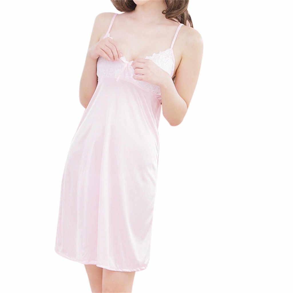 Sexy Dames Lingerie Nachtkleding Vrouwen Babydoll Kant Boog Ondergoed Night Dress Vrouw Winter Herfst