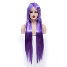 Straight Synthetic Cosplay Wig Low Temperature Fiber Long Silky Straight Hair Wigs For Women Pink Orange Black Wig Cosplay Wig adiors short silky straight inclined bang synthetic wig