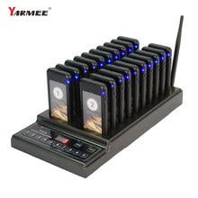Yarmee item de venda quente 20 pces pager restaurante pager sistema de chamada sem fio para restaurante sistema de chamada sem fio