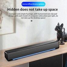 Портативный звуковой бар беспроводной Bluetooth домашний объемный Саундбар два динамика s 3,5 AUX интерфейс динамик с дыхательный светильник