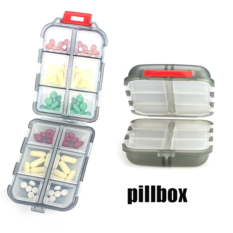 Medicine Pill Box Pills Dispenser Pill Organizer Tablet Pillbox Case Container Drug Divider Folding Drug Box Portable For Travel