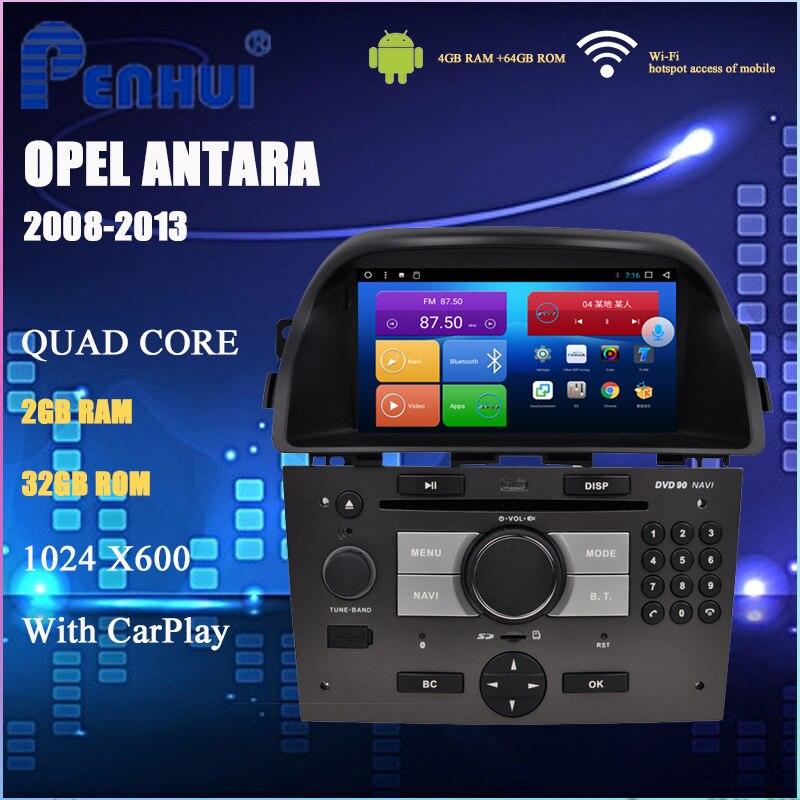 Android Car DVD For Opel Antara (2008-2013) Car Radio Multimedia Video Player Navigation GPS 2din
